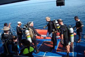 Deep Andaman Queen dive deck
