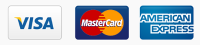 we accept VISA, Mastercard, American Express, Paypal and bank transfer