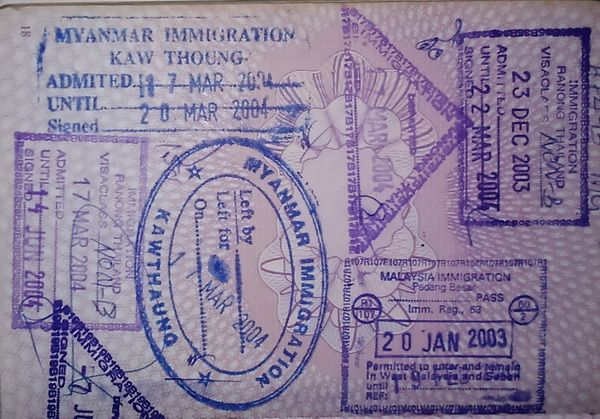 Burma visas and fees