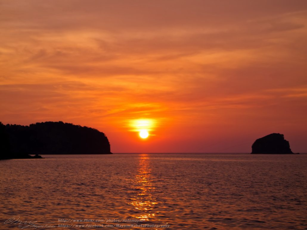 Mergui archipelago sunset