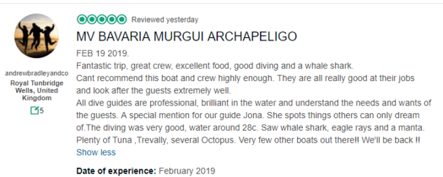 Bavaria liveaboard trip advisor review