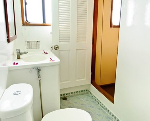 Deep Andaman Queen cabin en-suite bathroom