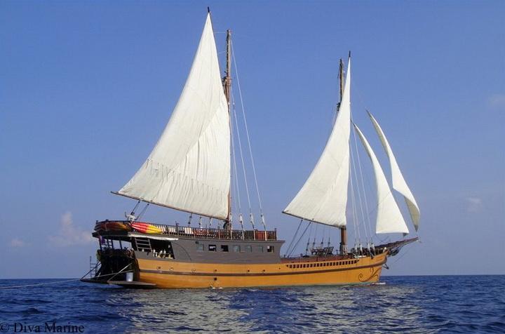 Diva Andaman sailing in Myanmar
