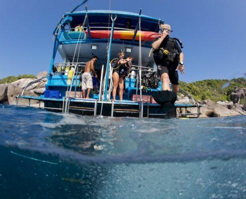 Dolphin Queen dive platform