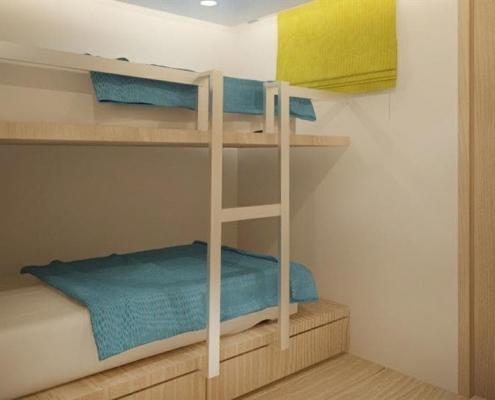 Deep Andaman Queen II - deluxe twin bunk cabin