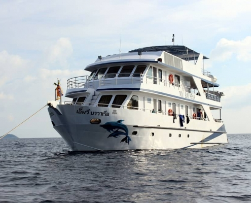 Bavaria at anchor