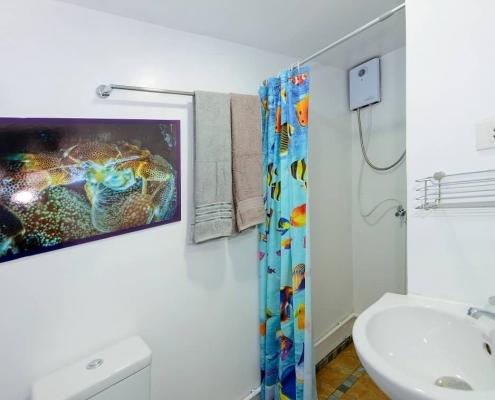 Bavaria liveaboard bathroom