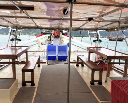 The Phinisi covered dive deck